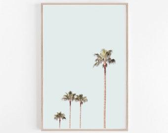 Prints,Wall Art,Home Decor,Palm Print,Palm Tree Print,Large Wall Art,Wall Print,Pastel Wall Art,Pastel Print,Tropical Room Decor,Wall Decor