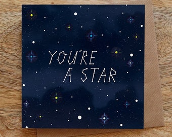 Congratulations card etsy youre a star greeting card constellations card stars greeting card congratulations card well done card night sky reheart Gallery