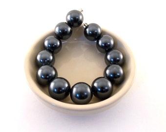 Beads Dark Purple Glass Pearls