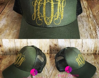 Monogrammed High Pony Tail Hat