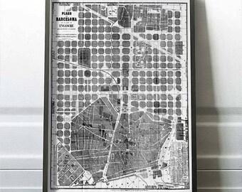 Eixample 1865. Mapa de Barcelona