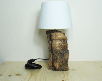 Tree trunk table lamp | Wood trunk table lamp | Wood trunk bedside lamp | Wood trunk desk lamp | Wood trunk bedside lamp