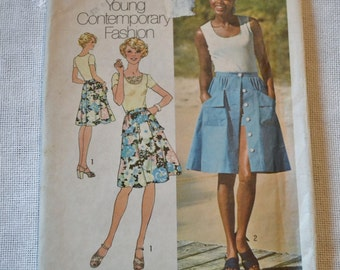 Vintage Simplicity 6968 Pattern Misses Top Skirt Shorts Size 16  DIY Sewing Crafts PanchosPorch