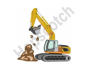Excavator - Machine Embroidery Design