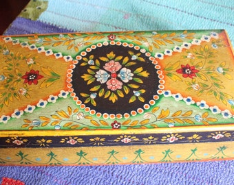 Vintage Artistically Painted Box
