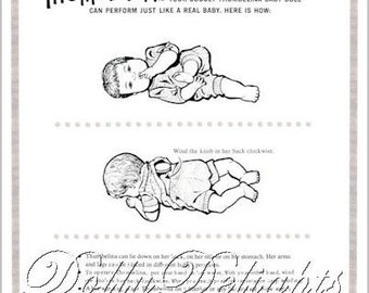 Instruction Sheet Made For Ideal 1960's Thumbelina (Digital Copy Download)