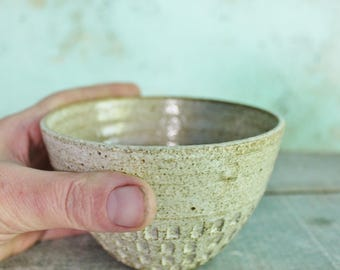 READY TO SHIP Handmade Ceramic Dip Bowl Chai Cup Rustic Texture