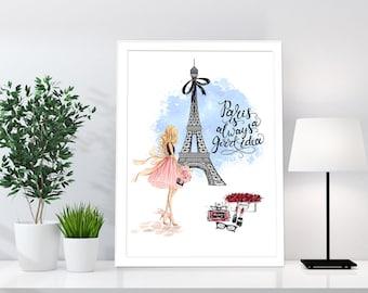 Coco Chanel Print, Chanel Paris Parfum, Chanel Decor, Chanel Poster, Chanel Quote, Chanel Wall Art, Fashion Print, Girls Room Wall Art,Paris