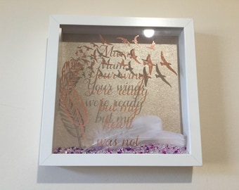 Memorial frame , your wings were ready but my heart was not , bereavement gift , lost loved one,