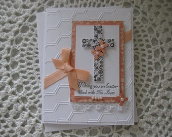 Handmade Greeting Card: Easter Cross/Wishing You an Easter Filled with His Love