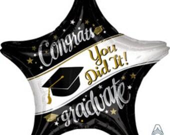 Jumbo Graduation You Did It Balloon/ Graduation Balloon/ Graduation Party Balloon/ Graduation Decor