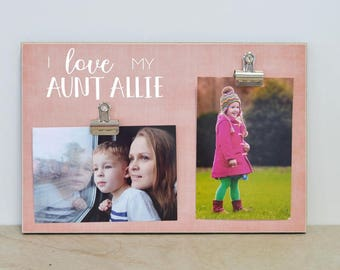 Personalized Auntie Photo Frame, Birthday Gift For Auntie, Custom Picture Frame, Aunt Gift, Aunt Picture Frame, Auntie Gift, Gift For Aunt