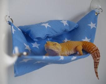 Blue Star Leopard Gecko Hammock + Extras