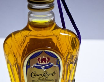 Crown Royal Ornament-- Canadian Whisky Themed Christmas Tree Ornament.