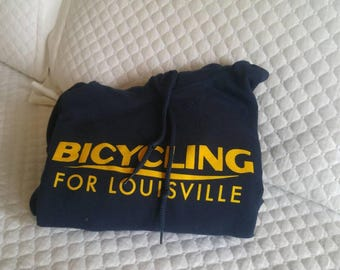 Bicycling for Louisville Retro Hoodie