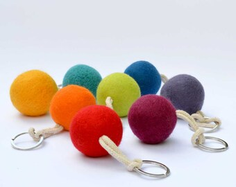 Provence lavender bag charm - Wool felt Handbag Pomander filled with dried lavender.  Mini stress ball.