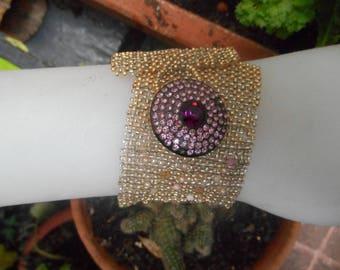 Gold, unique woven bracelet