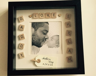 Scrabble Art, Father's Day Frame