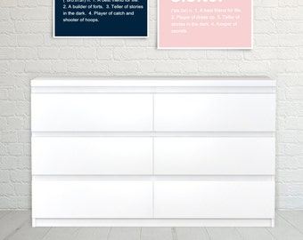 Brother Definition, Sister Definition, Sister Art Print, Brother Art Print, Typography, Wall Art, Nursery Art, Children s Art, Set of Two..