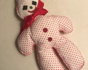 Vintage Softifoam polka dot clown doll-mint