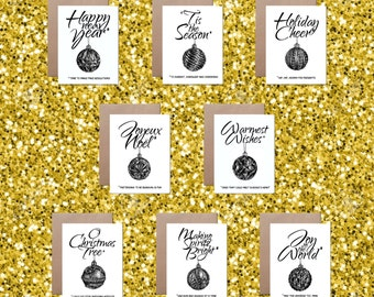 Holiday Edits Sarcastic Holiday Card Funny Christmas Card Cheeky Silly Greeting Card