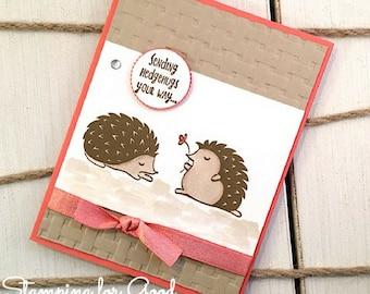 Cute Handmade Greeting Card - Stampin' Up Hedgehugs