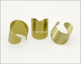 4 pc.+  Adjustable Ring Base, Wide Ring Blank - RAW Brass