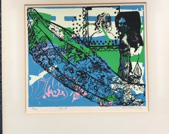 A.L. PALMER 1970 Signed #14/20 Limited Edition Matted Pop Art Lithograph Print Andy Warhol style
