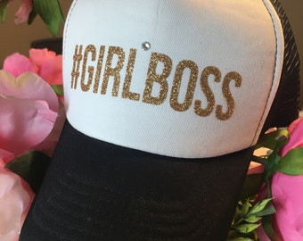 Hats { Follow your arrow } girlboss. Pink, purple or teal.