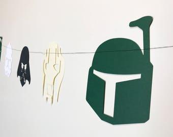 Star Wars Banner (Villains) - Darth Vader, Storm Trooper, Boba Fett, & General Grievous