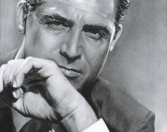 Drawing Print of Cary Grant (2017)