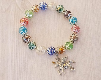 Unicorn Bracelet Charm for Girl Jewelry Charm Bracelet Silver Charm Jewelry Gift for Girl Girl's Bracelet Girl's Jewelry