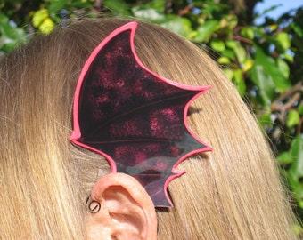 Bat Wings Ear Wings Red