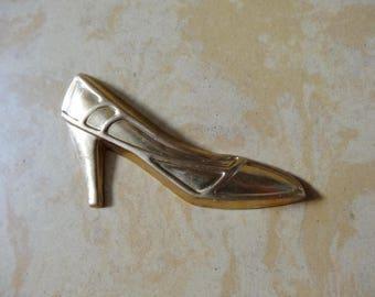 BRASS shoe charm
