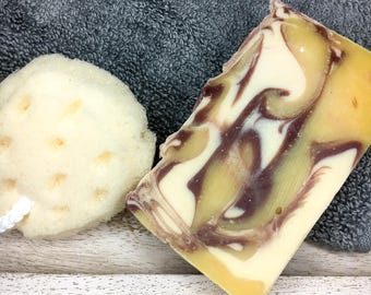 Natural Handmade soap-Homestead soap-Egg yolk soap-Artisan soap-Handcrafted soap-Lecithin skin remedy soap-Cold Process Raw Hydrating soap