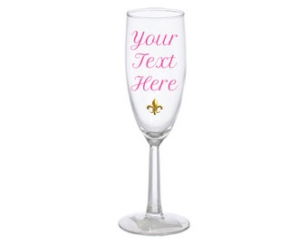 Customizable Champagne Flute!
