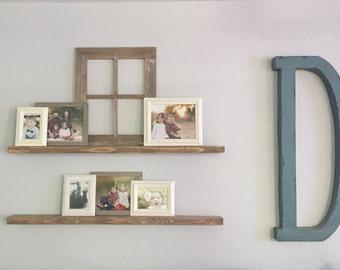 Wood Floating Shelves // Knotty Alder Floating Shelf // Set of 2 TWO