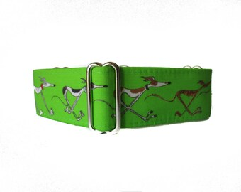 1.5 inch Martingale Collar, Greyhound Martingale Collar, Galgo Collar, Neon Martingale Collar, Levrier