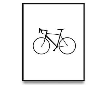 Modern Art, Scandinavian Print, Bike Print, Bicycle Print, Minimalist Art, Printable Art, Art Prints
