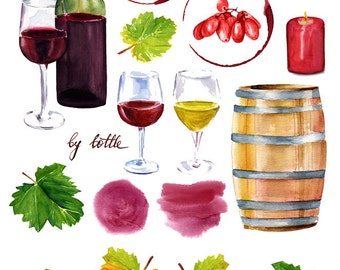 Wine Tasting - Ceramic Decals- Enamel Decal - Fusible Decal - Glass Fusing Decal ~ Waterslide Decal - 86879010