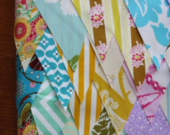 120 Feet of Fabric Flags. Perfect for Photo Prop, Wedding Decoration, Birthday, Bridal Shower Decor...