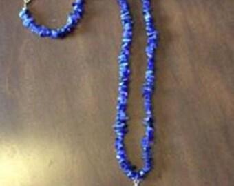 Purple Chip Bead Necklace