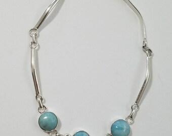 Larimar Bracelet Earings
