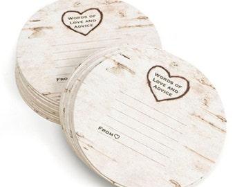 Rustic Wedding Advice Coasters (Pack of 25) Wedding Reception Ideas