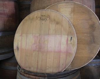 Reclaimed wine barrel head/ Wine barrel head/ barrel head/ unsanded/ no glue/ DIY projects