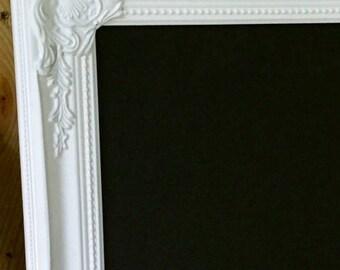 Ornate Chalkboard White Ornate Blackboard White Framed Chalkboard Chalkboard Home Decor Message Board Menu Board