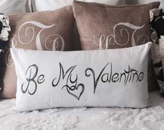 valentine pillow,be my valentine,welcome home,take off your shoes,remove your shoes,pillow with word,white throw pillow,welcome freinds sign