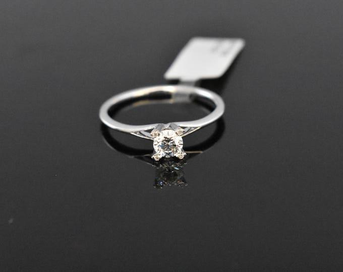 18K White Diamond Solitaire   GIA Certified Diamond   Engagement Ring   Wedding Ring   Handmade Fine Jewelry   Bridal Ring