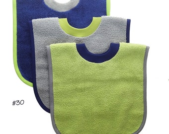 Pullover Baby to Toddler Bibs -- Set of Three -- Set 30