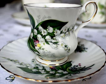 Elizabethan Lily of the Valley Demitasse